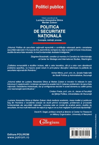 Politica de securitate nationala. Concepte, institutii, procese 4