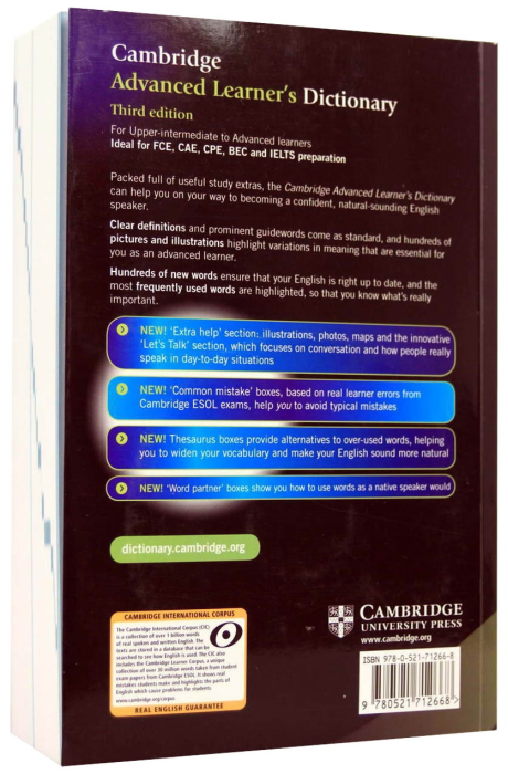 Cambridge Advanced Learner's Dictionary (4rd Edition) Paperback with CD-ROM 1