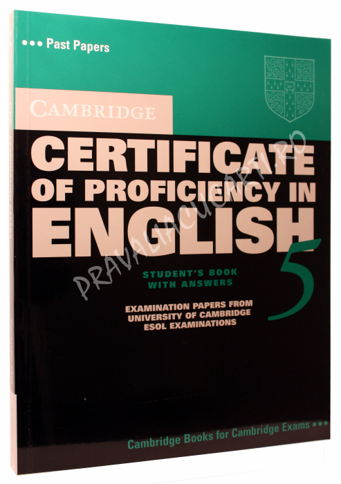 Cambridge Certificate of Proficiency in English 5 Student's Book with Answers 0