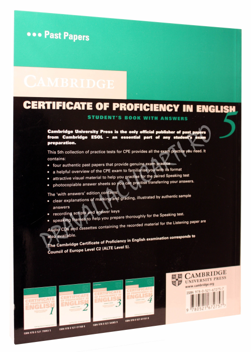 Cambridge Certificate of Proficiency in English 5 Student's Book with Answers 1