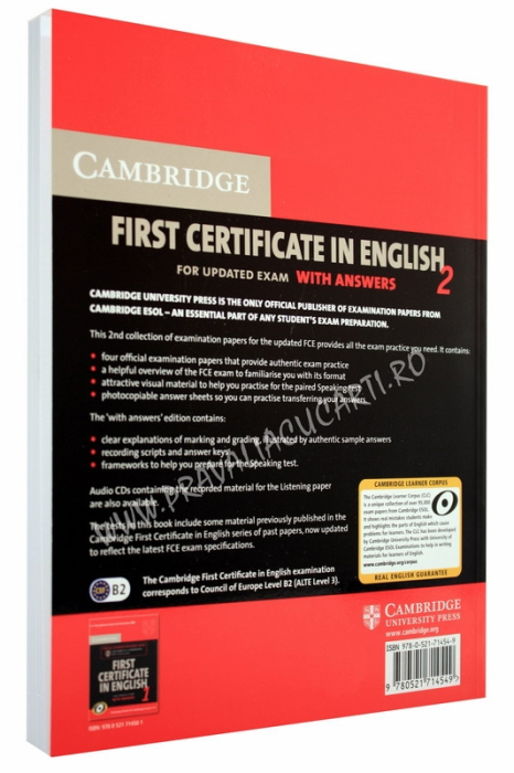 First Certificate in English 2 (FCE 2) with Answers and 2 CD 1