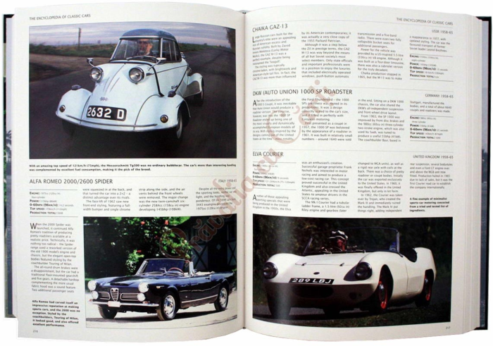 Encyclopedia of Classic Cars From 1890 To the Present Day 3