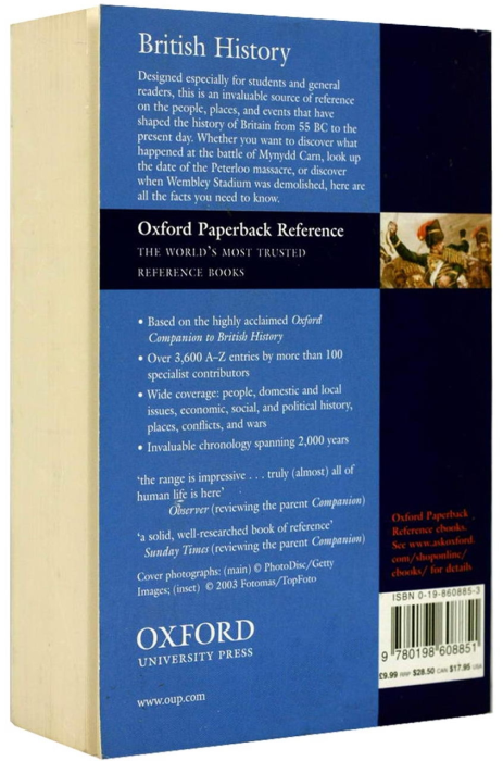 Oxford - Dictionary of British History 1