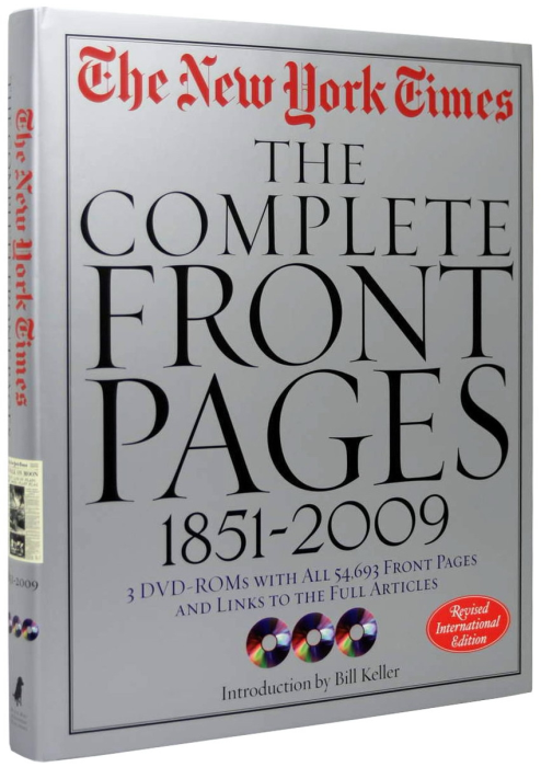 New York Times. The Complete Front Pages 1851-2008 [1]