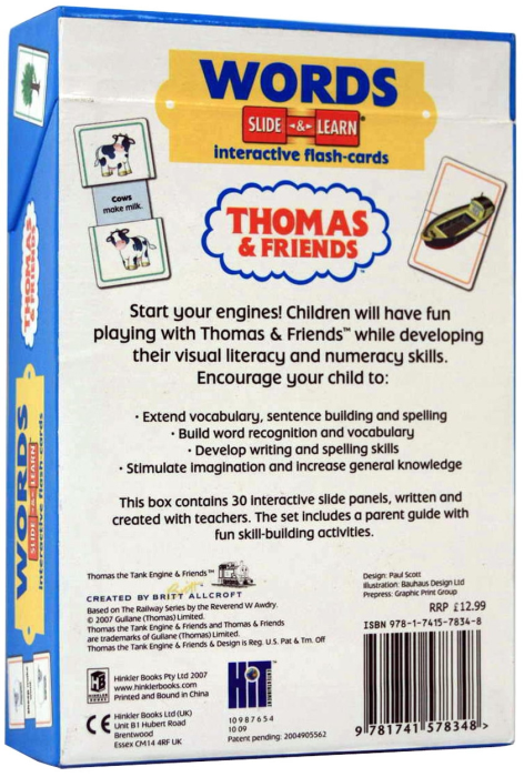 WORDS - Slide & Learn - Interactive flash-card (Thomas and Friends) [2]