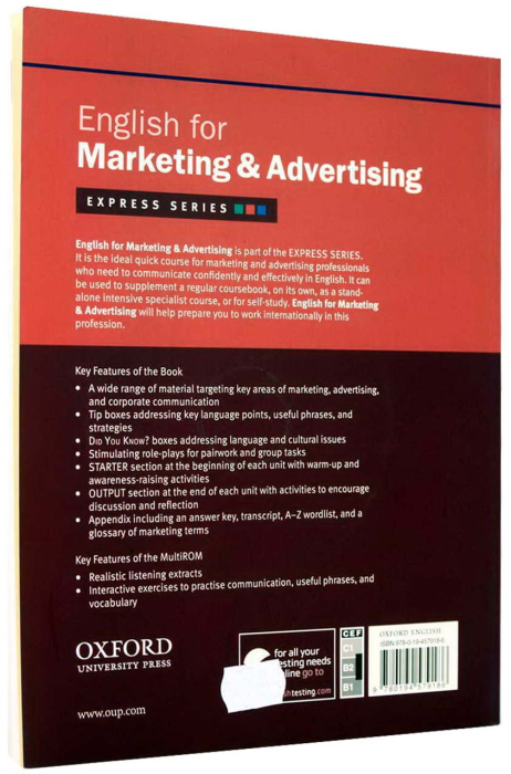 English for Marketing & Advertising Student's Book with MultiROM [1]