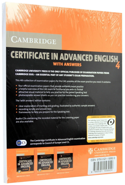 Certificate in Advanced 4. With answers and Cd 1