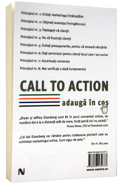 Call to action. Adauga in cos 1
