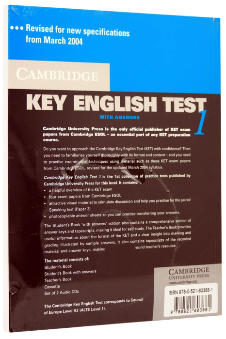 Cambridge Key English Test (KET) 1 Self-Study Pack (Student's Book with answers and 2 Audio CDs) 1