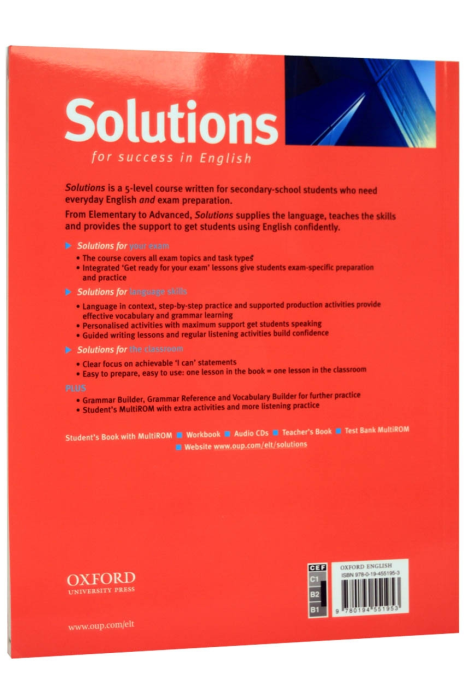 Solutions Upper-intermediate: Students Book with MultiROM [1]