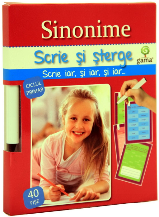 Sinonime. Scrie si sterge. Ciclul primar 0