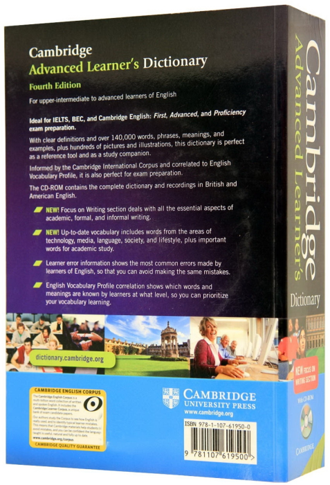 Cambridge Advanced Learner's dictionary. 4th edition 1