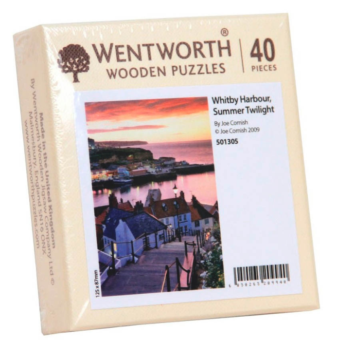 Puzzle din lemn. Whitby Harbour, Summer Twilight. 40 piese 0