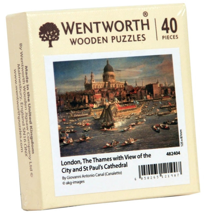 Puzzle din lemn. London with view. 40 piese 0