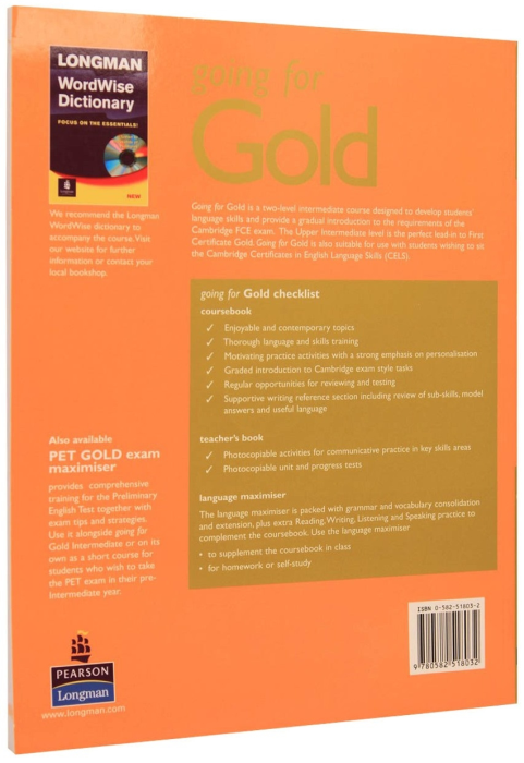 Going for Gold Intermediate Language Maximiser with Answer Key with Audio CD 1