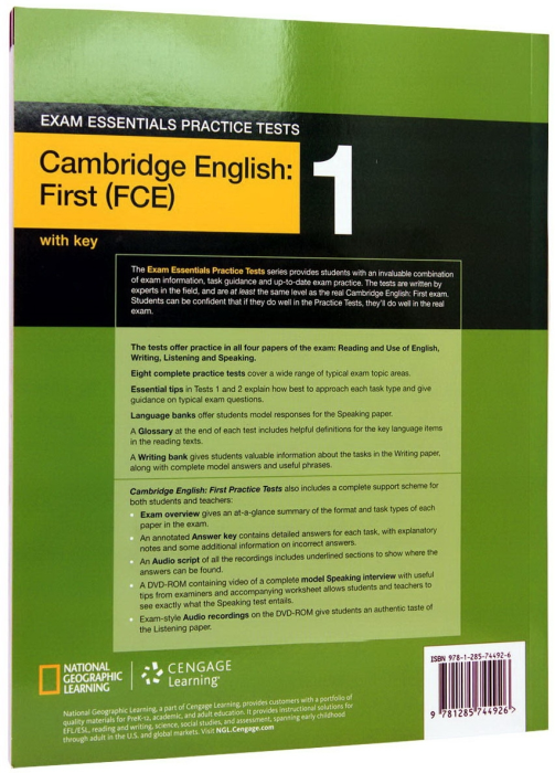 Exam Essentials Cambridge First Practice Test 1 with Key + CD 1