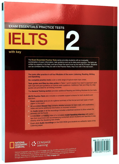 Exam Essentials IELTS Practice Test 2 with Key + CD 1