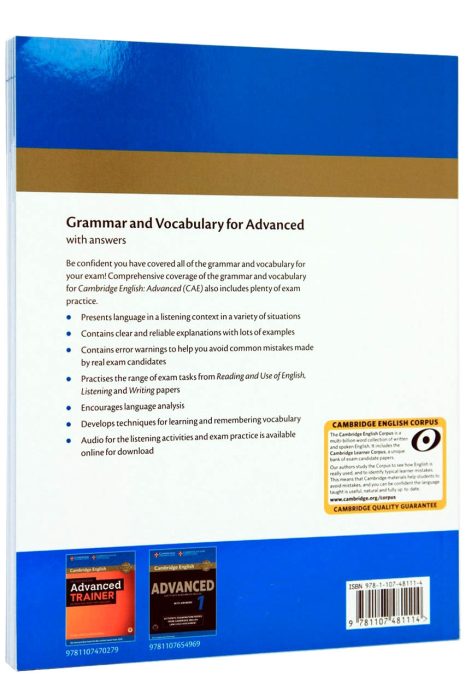 Grammar and Vocabulary for Advanced Book with Answers and Downloadable Audio 1