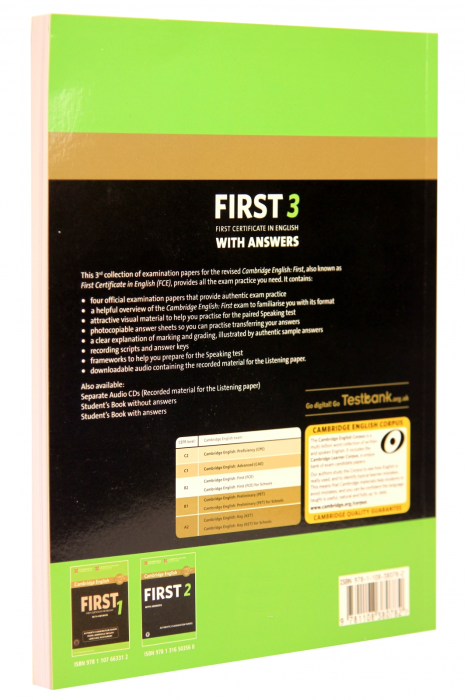 Cambridge English First 3 Student's Book with Answers with Audio 1