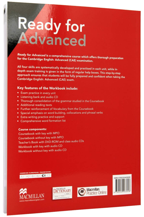 Ready for Advanced (CAE) Workbook with Key for 2015  3rd edition