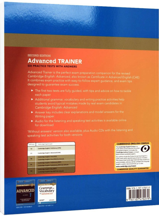 Advanced (CAE) Certificate Trainer 2015. Six Practice Tests With Answers 1