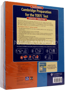 Cambridge Preparation for the TOEFL iBT Test (4th Edition) Book with CD-ROM and Audio CDs (8) Pack1