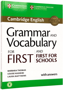 Grammar and Vocabulary for First and First for Schools Book with Answers and Audio0