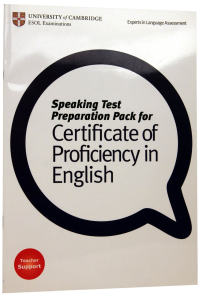 Speaking Test Preparation Pack for Certificate of Proficiency in English. Teacher Support