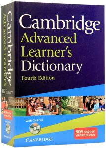 Cambridge Advanced Learner's dictionary. 4th edition