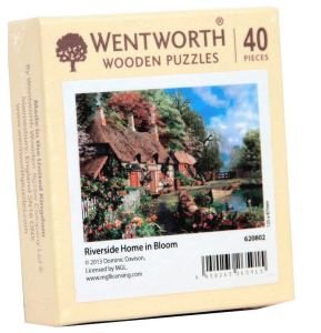 Puzzle din lemn. Riverside Home in Bloom. 40 piese