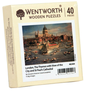 Puzzle din lemn. London with view. 40 piese