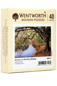 Puzzle din lemn. Autumn on the River Wharfe. 40 piese
