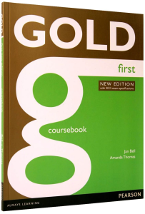 Gold First New Edition Coursebook - Manual