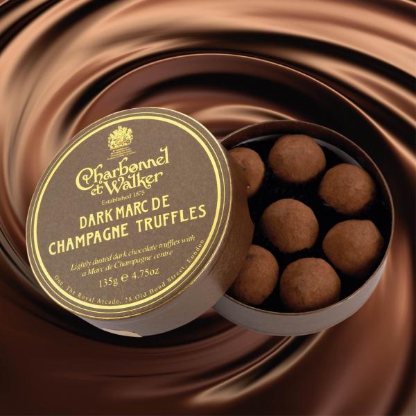 Trufe de ciocolata neagra Marc de Champagne 135G 1