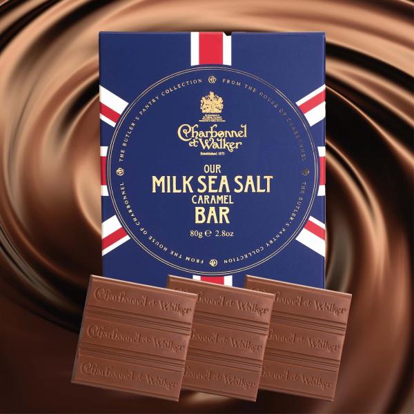 Ciocolata cu lapte si caramel sarat 80G 3