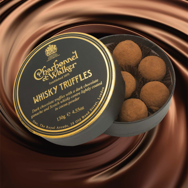 Trufe de ciocolata neagra cu whisky 130G 1