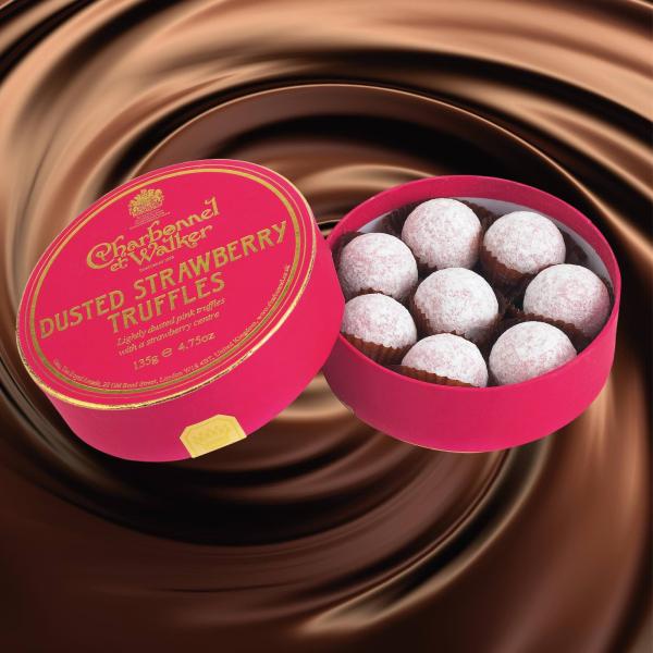 Trufe de ciocolata cu capsuni 135G 1