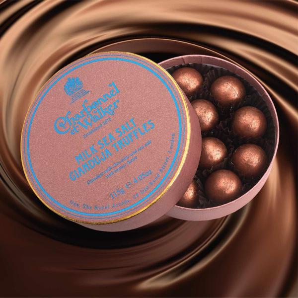 Trufe de ciocolata cu lapte si gianduja 115G 1