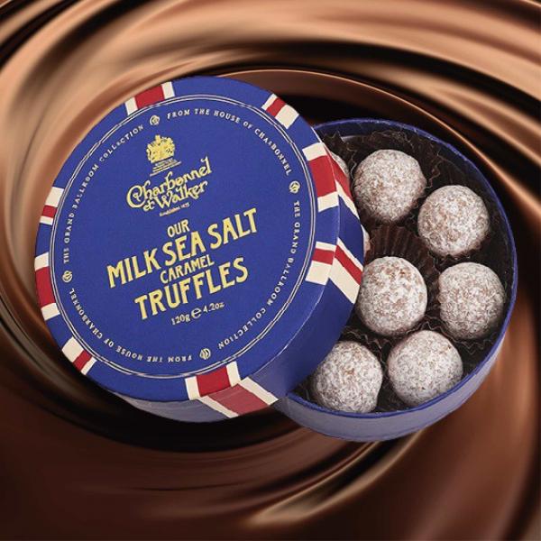 Trufe de ciocolata cu lapte si caramel sarat 120G 1