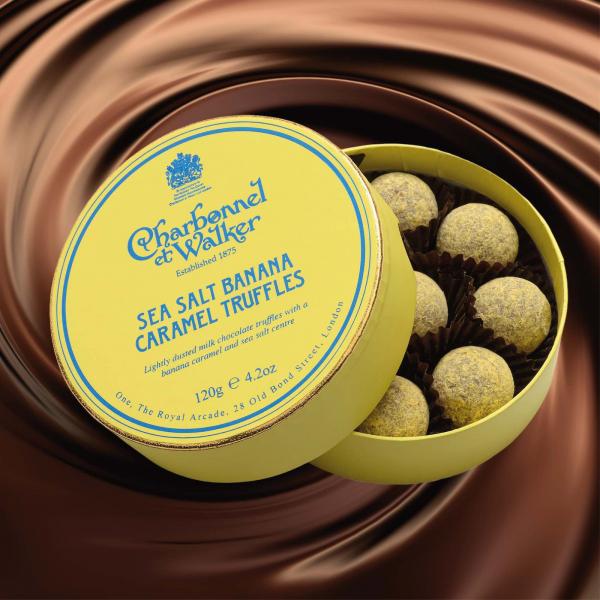 Trufe de ciocolata cu banane si caramel sarat 120G 1