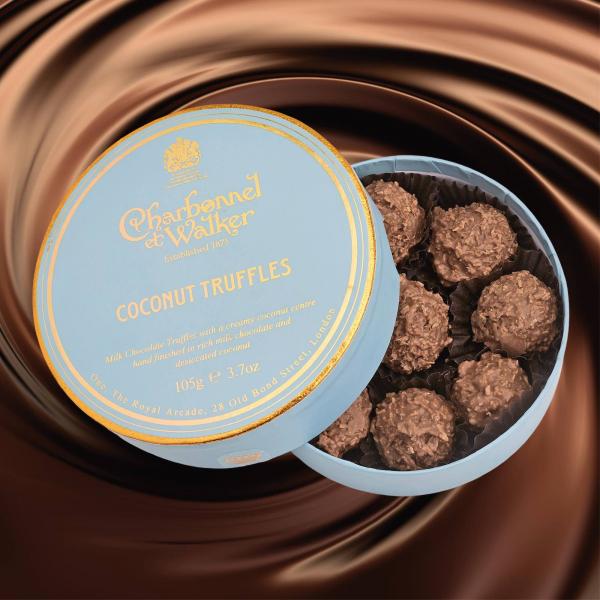 Trufe de ciocolata cu lapte si cocos 105G 1