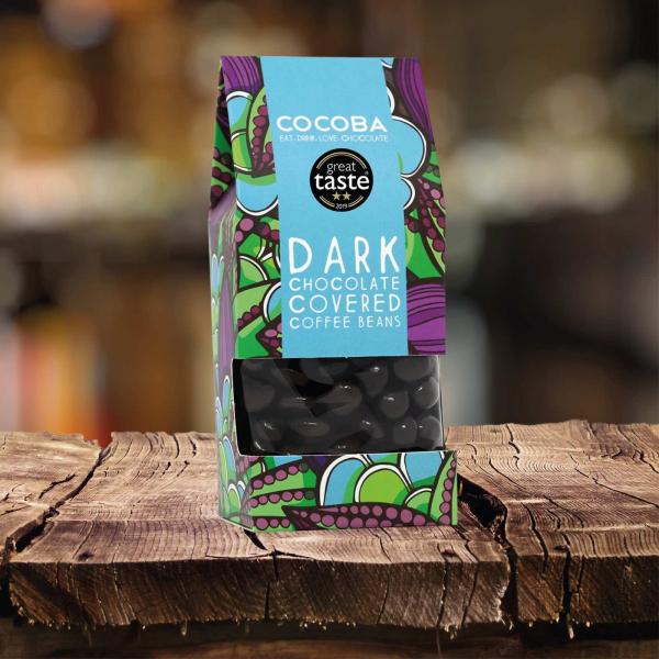 Boabe de cafea invelite in ciocolata neagra 175G 2
