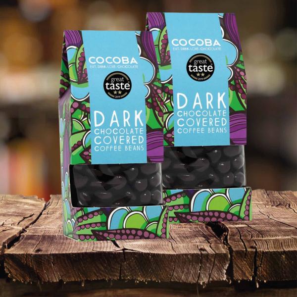 Boabe de cafea invelite in ciocolata neagra 175G 3