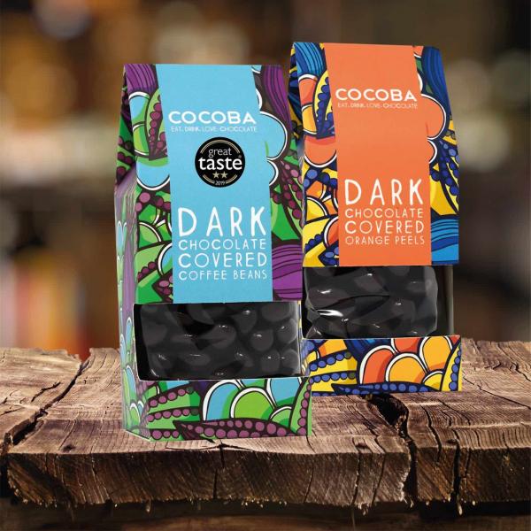 Boabe de cafea invelite in ciocolata neagra 175G 4