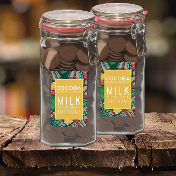 Borcan gigant cu năsturei de ciocolată cu lapte 900G [3]