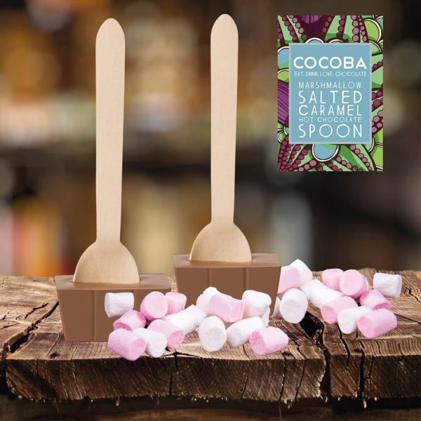 Lingura ciocolata calda - Caramel sarat si bezele 50G 3