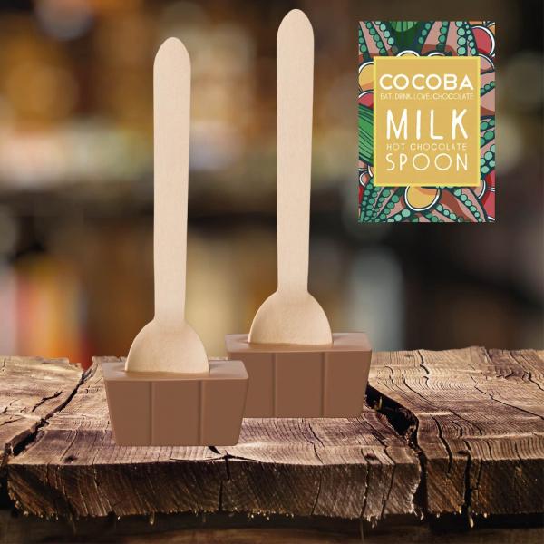 Lingura ciocolata calda - ciocolata cu lapte 50G 2