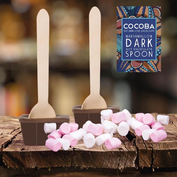 Lingura ciocolata calda - Ciocolata neagra cu bezele 50G 3
