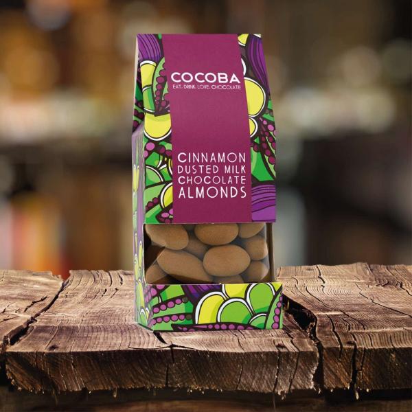 Migdale invelite in ciocolata neagra si presarate cu scortisoara 175G 2