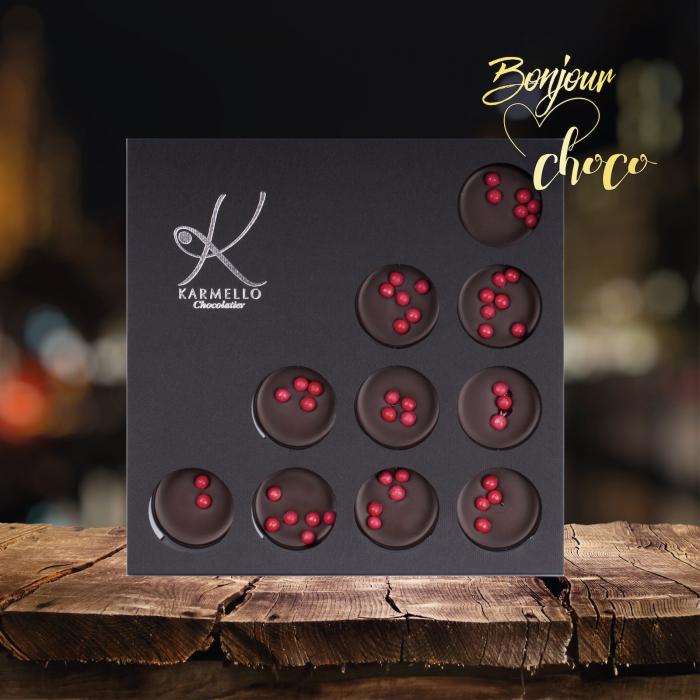 Bomboane ciocolata neagra cu umplutura de cirese 1